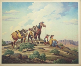 Guardians of the RangeTill Goodan 26X31Price on Request for individual print. Set of six $1000.00, free shipping