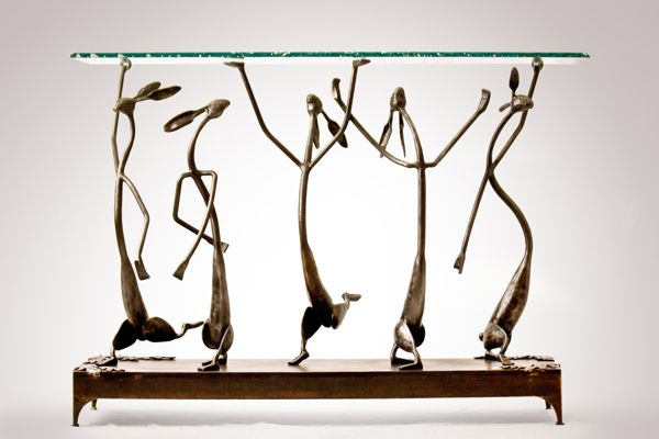 Shoshone Jackrabbit Ballet Hand Forged Steel