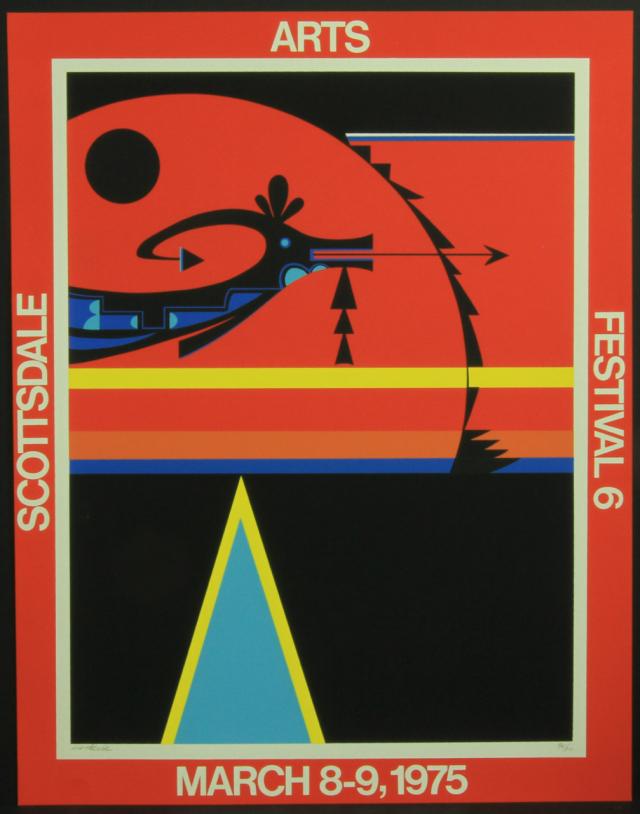 David Chethlahe Paladin, Scottsdale Center for the Arts Festival, Original Serigraph