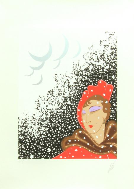 """Erté """"Winter"""" Serigraph Artist Proof"""